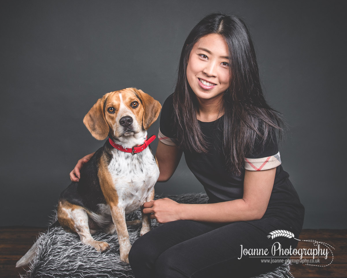 beagle-and-owner