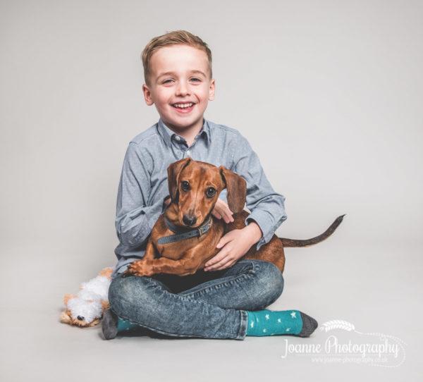 child-and-sausage-dog