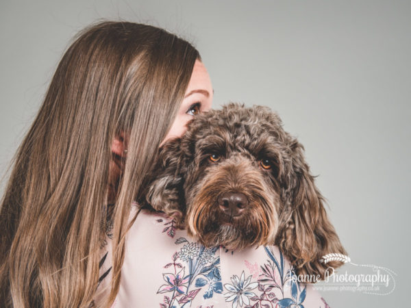 cockapoo-and-owner