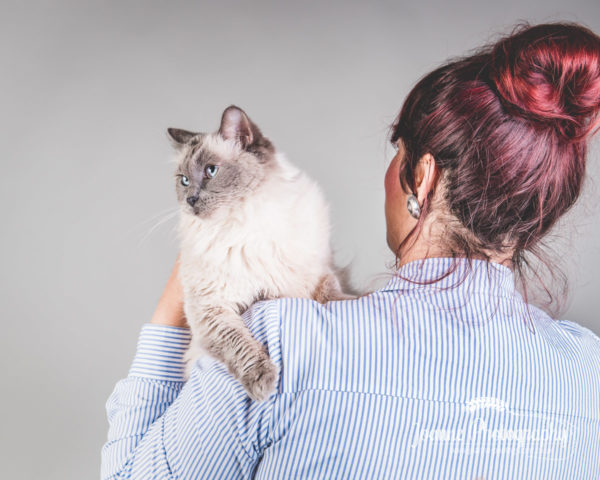 owner and cat photography